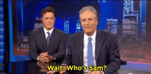 Watch and share Stephen Colbert GIFs and Samwise Gamgee GIFs on Gfycat
