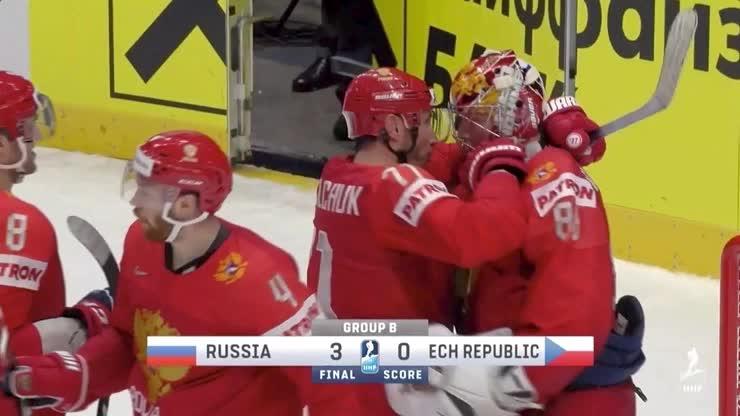 Ilya Kovalchuk and Alex Ovechkin IIHF hug line for Andrei Vasilevsky GIFs