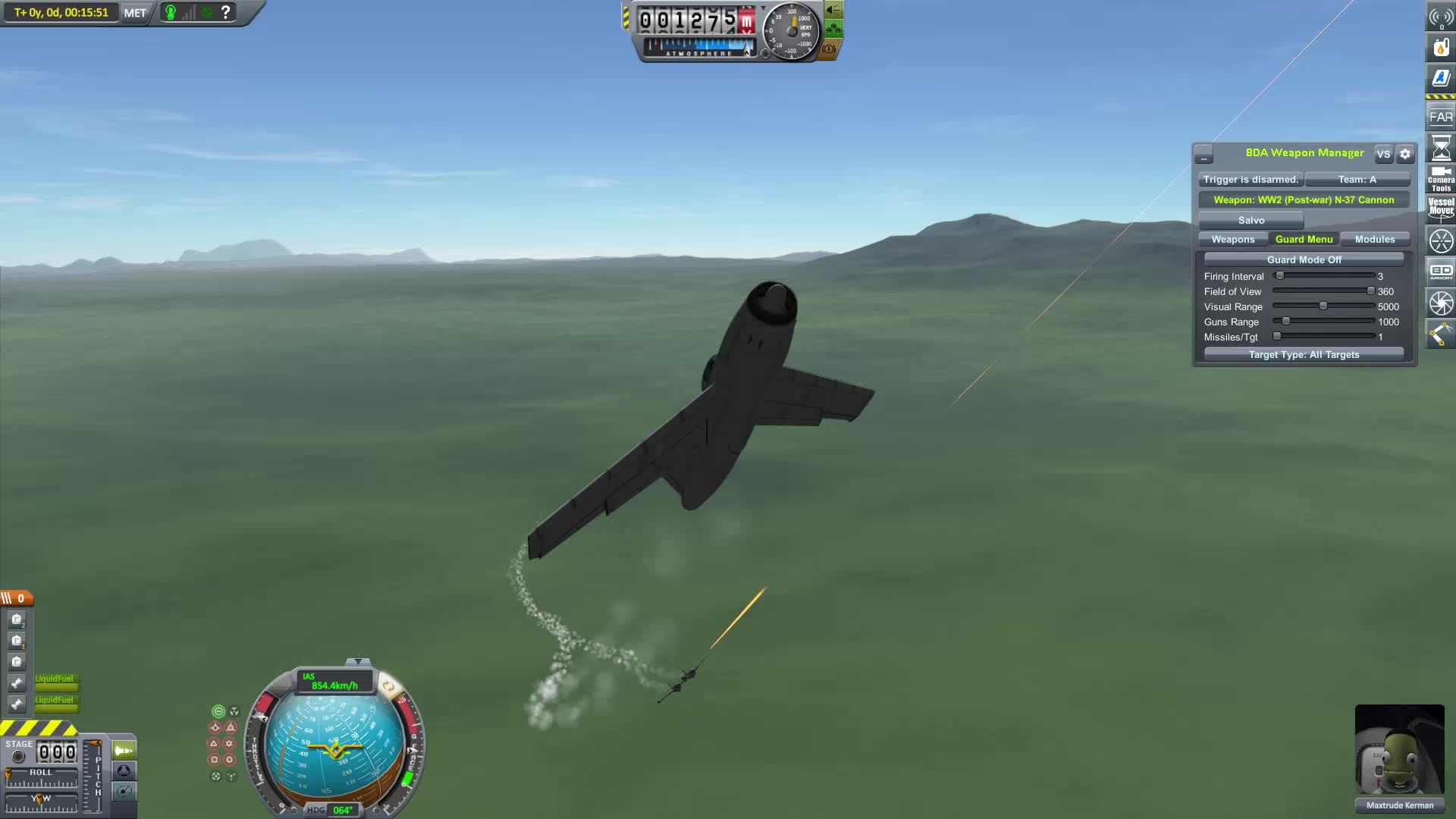 BDArmoury, Dogfight, KSP, Kerbal Space Program, La-200 vs Turbo Lightning GIFs