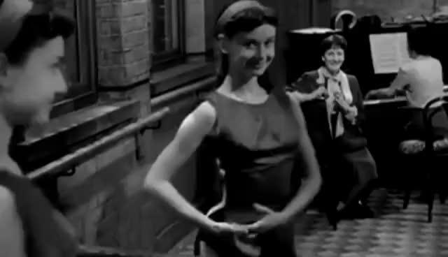 Watch and share Audrey Hepburn Dance GIFs on Gfycat