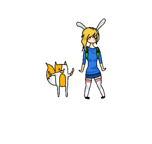 Watch and share Fionna And Cake Chibi By Lizz-chama animated stickers on Gfycat