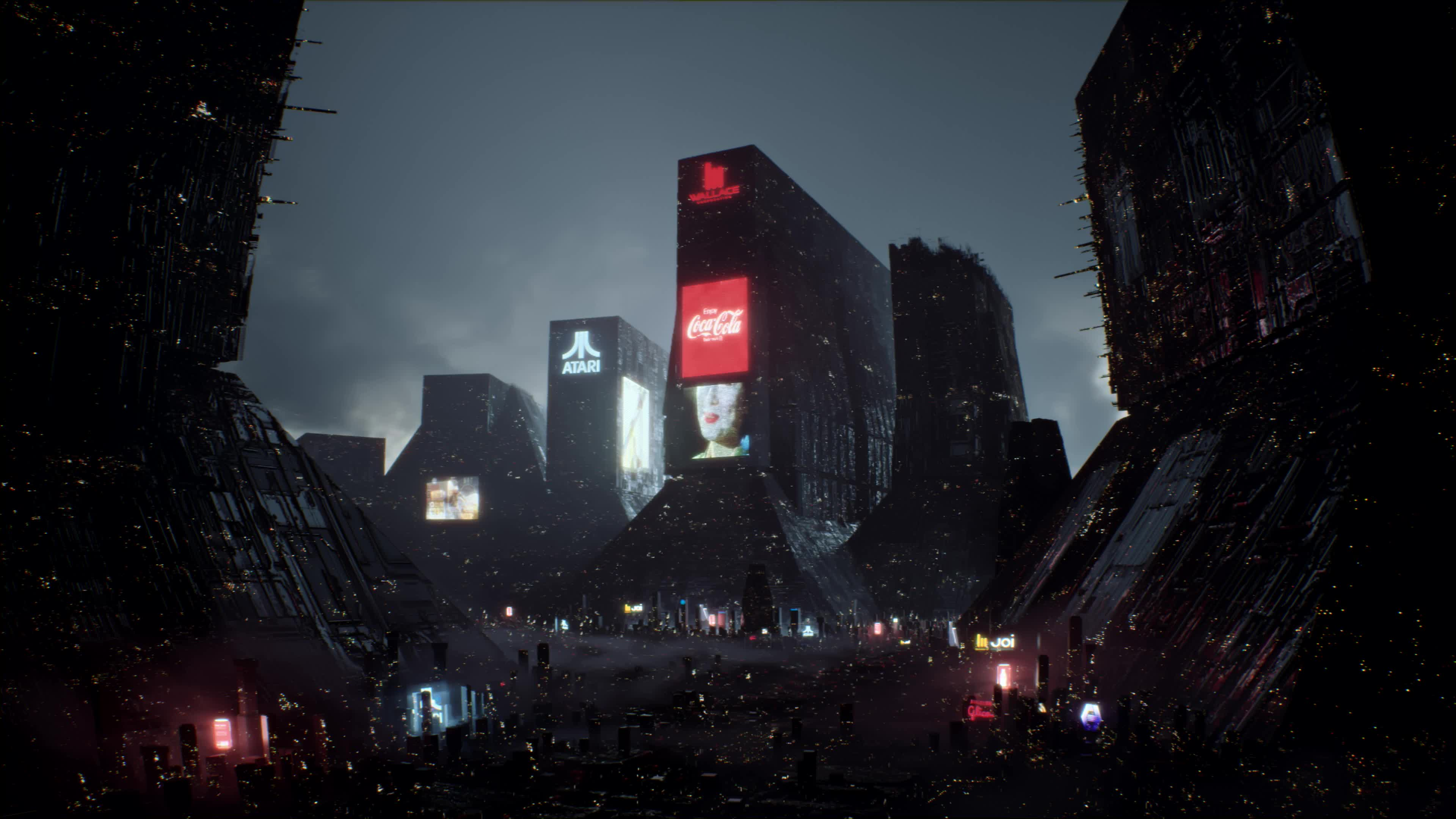 Blade Runner City Lights 4k Live Wallpaper Gif Gfycat