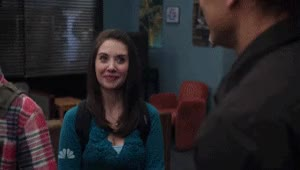 Watch and share Alison Brie GIFs and Joel Mchale GIFs on Gfycat