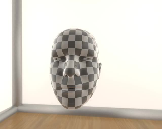 Checker Head - iPhone X and Face Cap app in Blender GIF by Blender