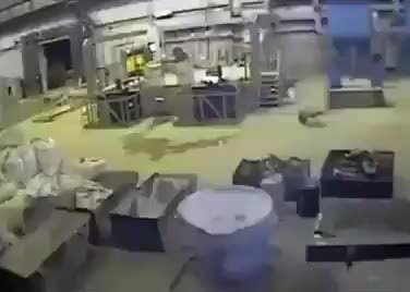 Molten metal explosion in a foundry GIFs