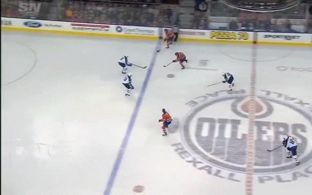 edmontonoilers, hockey, Teddy Purcell (8) Snap shot - ASST: Leon Draisaitl (21), Taylor Hall (23) GIFs