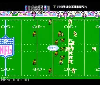 gaminggifs, Tecmo Super Bowl - NES Gameplay (reddit) GIFs