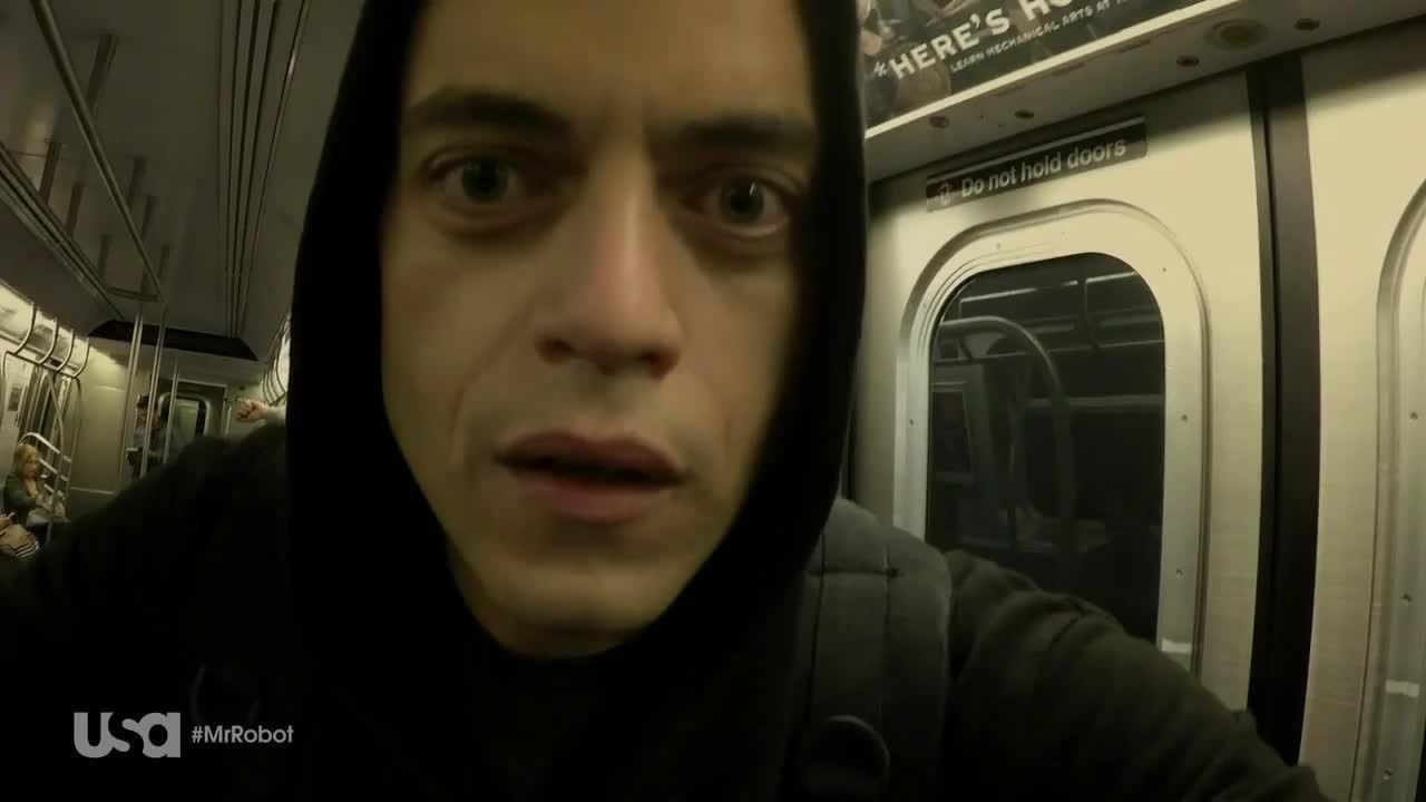 Rami Malek, mrrobot, Are you freaking out? (reddit) GIFs