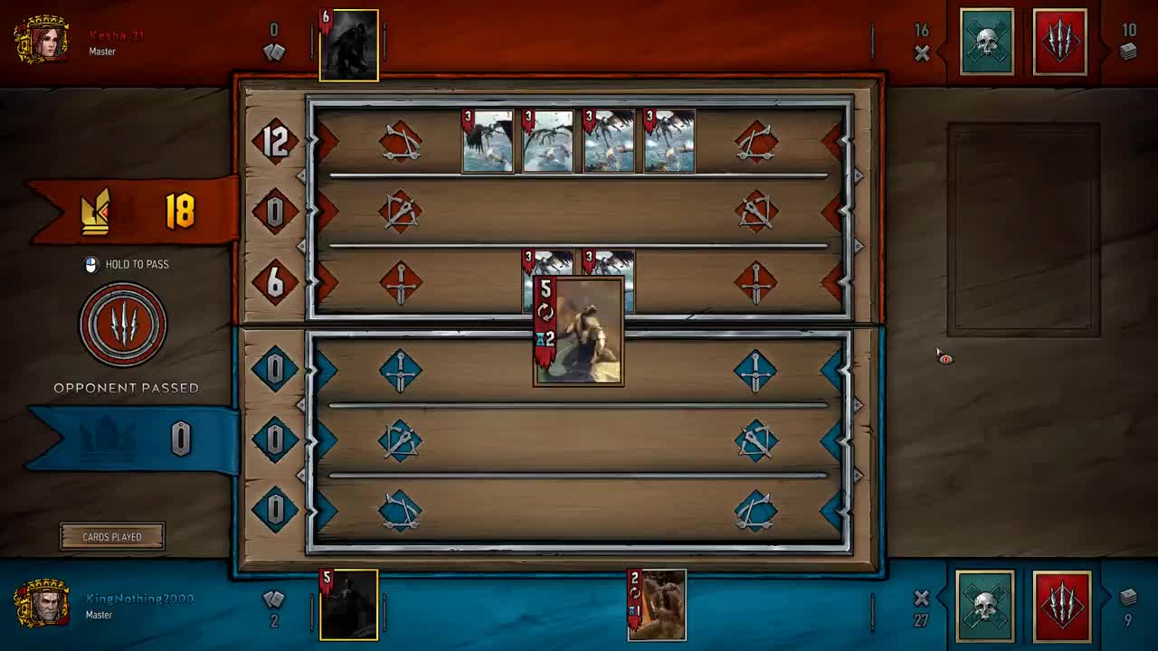 Game, Game Saver, Gwent, Gwent: The Witcher Card Game, King, King Nothing, Nothing, Saver, Emergency Hag GIFs