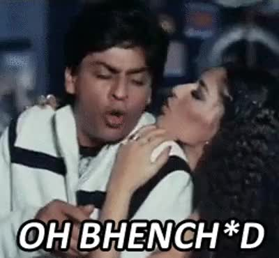 Watch and share Shah Rukh, Sonali - Bollywood Lip Reads Gone Bad - Www.funesh.com GIFs by spice3boy on Gfycat