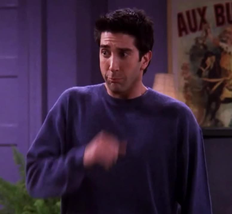 GIF Brewery, cute, embarrassed, friends, funny, geller, no, ross, shy, Embarrassed Ross GIFs