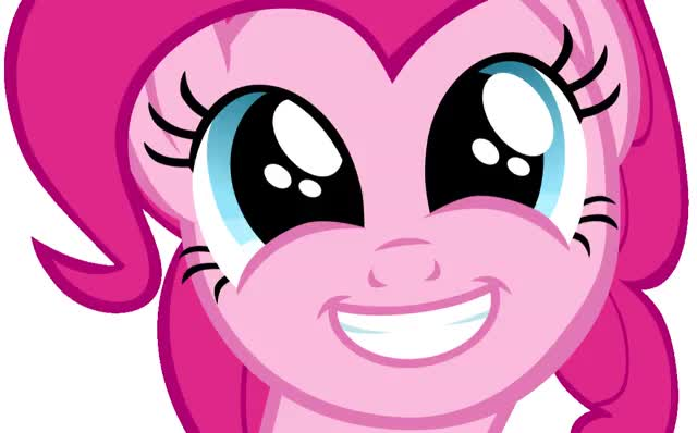 Watch and share Pinkie Pie Smile animated stickers on Gfycat