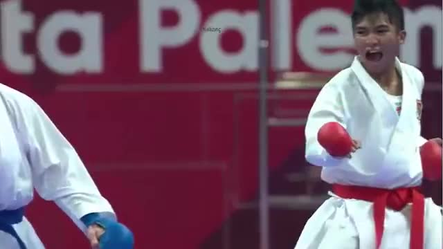 Watch and share Final Karate Asian Games 2018 Rifki Ardiansyah Arrosyid (iNDONESIA) Vs Amir Mahdi Zadeh (IRAN) GIFs by The Livery of GIFs on Gfycat