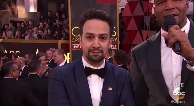 Watch Lin-Manuel Miranda on the Red Carpet Oscars GIF by GIF Reactions (@visualecho) on Gfycat. Discover more Lin-Manuel Miranda, Oscars, Oscars 2018, Oscars2018, lin manuel-miranda, michael strahan GIFs on Gfycat