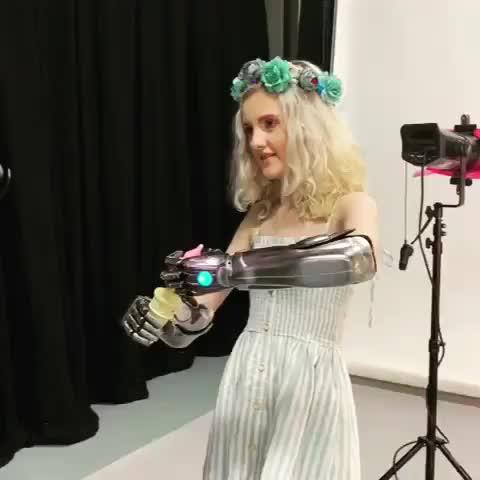 amputee, bionicarm, bionicgirl, bubbles, heroarm, limbdifference, limbdifferenceawareness, limbloss, open bionics, tillylockey, blowing bubbles using bionic arms GIFs