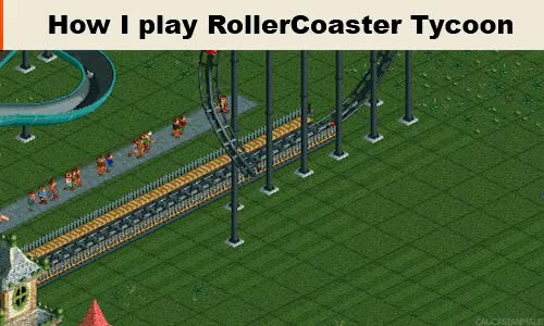 Watch and share Roller Coaster Tycoon GIFs on Gfycat