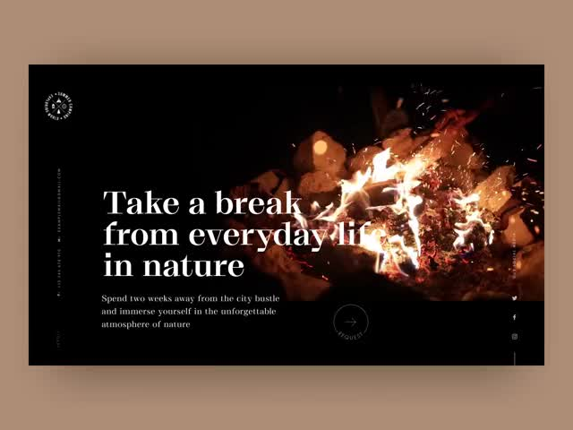 Watch and share Forest Camping Website Animation Tubik GIFs by bazookasthlm on Gfycat