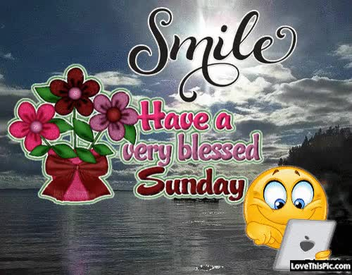 Watch and share Smile Have A Very Blessed Sunday GIFs on Gfycat