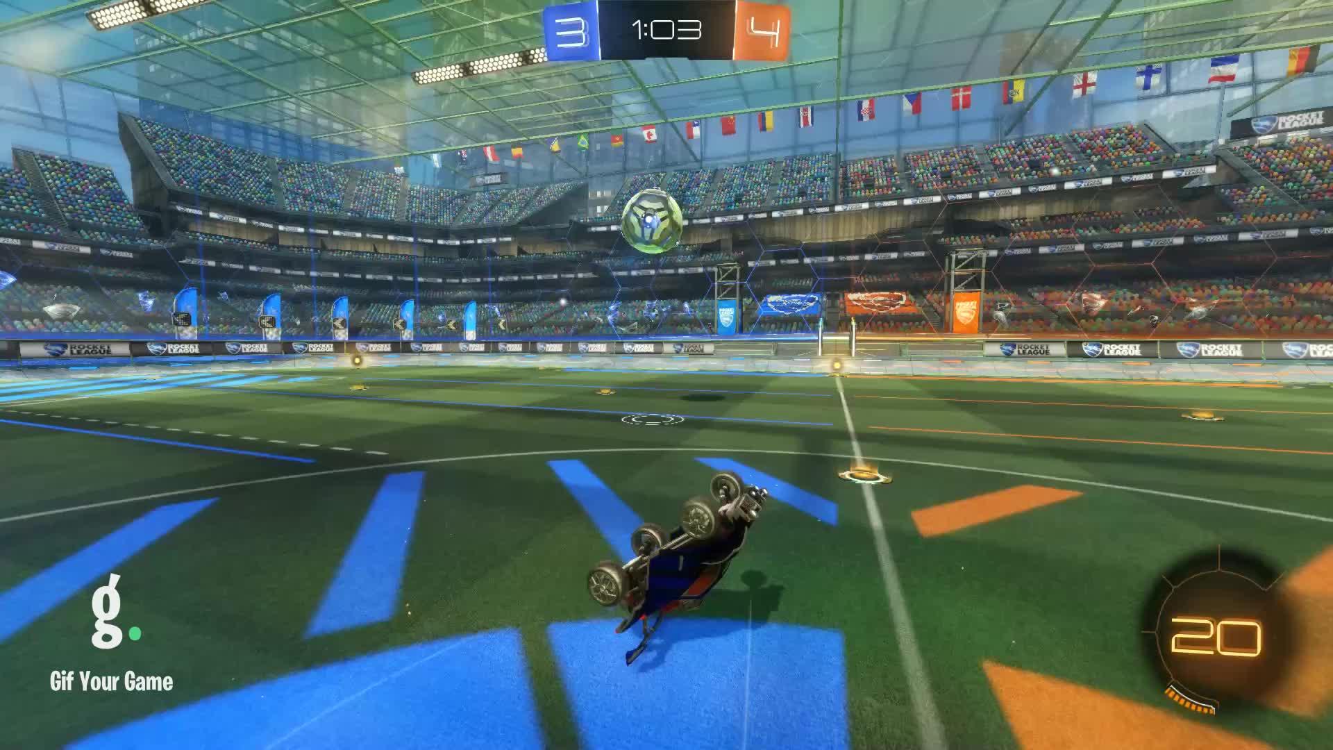 Gif Your Game, GifYourGame, Goal, MK, Rocket League, RocketLeague, Goal 8: MK GIFs