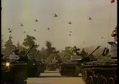 Watch Panzerlied en ultima parada militar del General Pinochet (1997) GIF on Gfycat. Discover more related GIFs on Gfycat