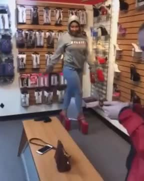Watch and share Girl Falling In Red High Heels GIFs on Gfycat