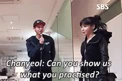 Watch Bom performing for Chanyeol and Seho GIF on Gfycat. Discover more 2NE1, EXO, chanyeol, gif, mine, park bom, sbs roommate, seho GIFs on Gfycat