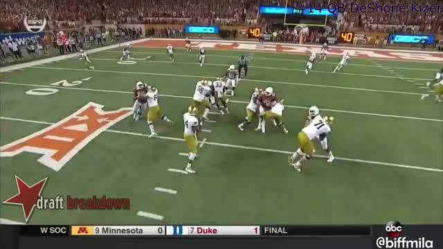Watch and share DeShone Kizer (Notre Dame) Vs. Texas (2016) GIFs by Sean McKaveney on Gfycat