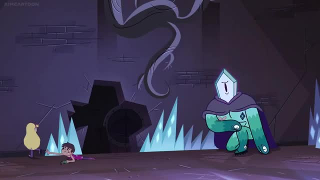 Watch and share Eclipsa Dodging Rhombulus GIFs by AzureBeast on Gfycat