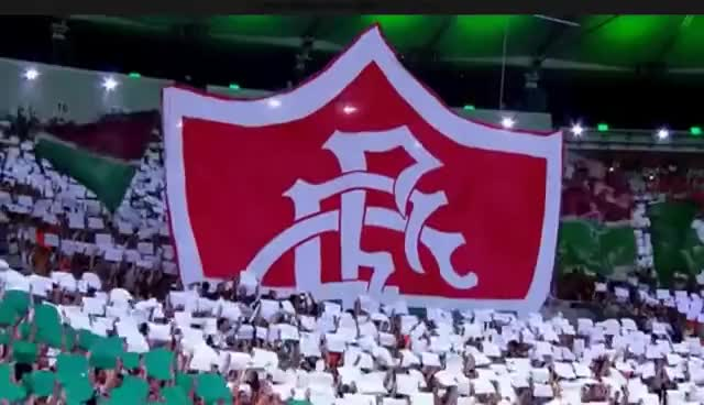 Watch and share Torcida Do Fluminense Faz Mosaico 3D Pra Recepcionar R10, Fluminense 1 X 0 Gremio 01/08/2015 GIFs on Gfycat