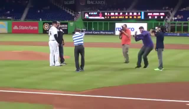 Watch Goldberg Spear at Baseball Game GIF on Gfycat. Discover more Goldberg, Marlins, Spear GIFs on Gfycat