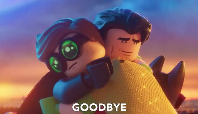Batman Says Goodbye to his Family GIF by GIF Queen (@ioanna