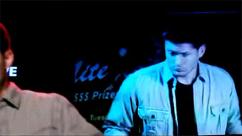 Watch Demon Dean rocks some karaoke.ep. 10x1 - Black GIF on Gfycat. Discover more dean winchester, demon dean, jensen ackles, myedit, spncastedit, supernatural GIFs on Gfycat