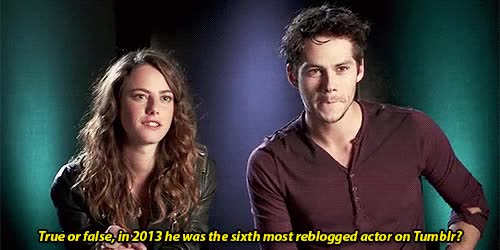 Watch interviews GIF on Gfycat. Discover more dylan o'brien, kaya scodelario GIFs on Gfycat