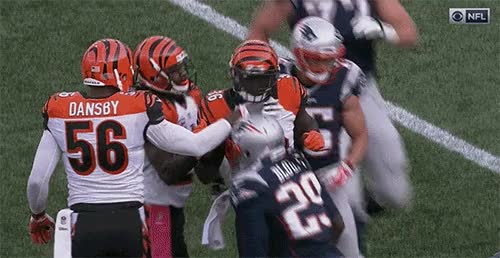 Watch and share LeGarette Blount Sticks Fingers Inside Bengals Facemask GIFs on Gfycat