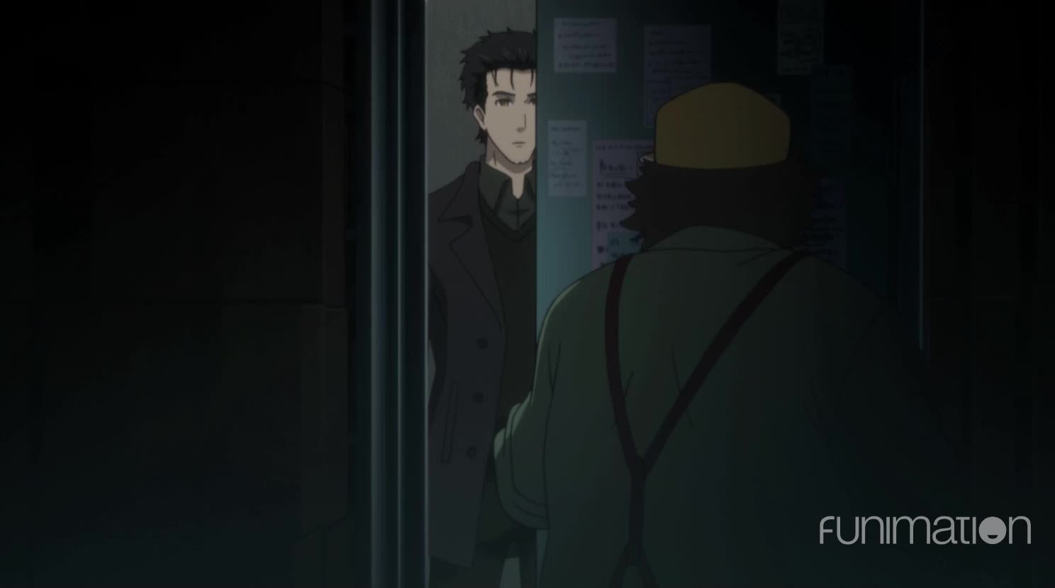 anime, funimation, sci-fi, scifi, steins gate, steins gate 0, steins;gate, steins;gate episode 11, steinsgate, steinsgate 0, What are you doing in here? GIFs