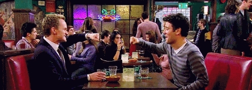himym, how i met your mother, Fist Bump. How I Met Your Mother GIFs