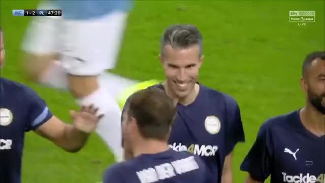 Watch and share Premier League Legends [2] - 1 Manchester City Legends - Robin Van Persie GIFs on Gfycat