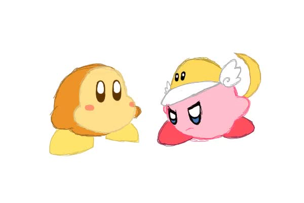 Watch and share Gif Cutter Kirby Vs Waddle Dee By Cilvia-Zie GIFs on Gfycat