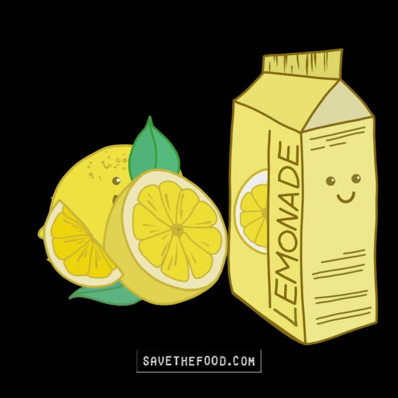 food, food waste, lemon, lemonade, lemons, save the food, Turn Lemons Into Lemonade GIFs