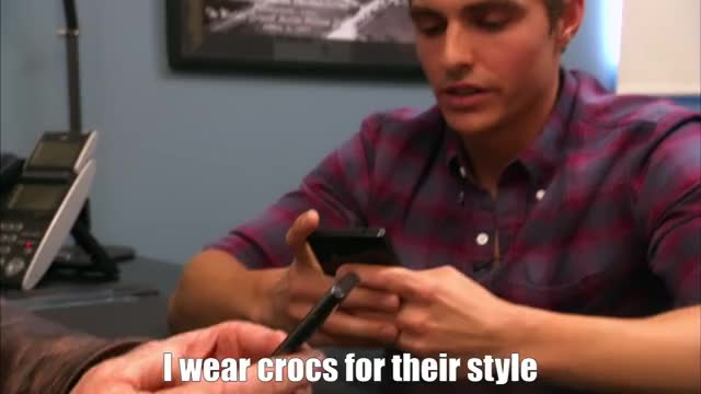 Watch this trending GIF by The GIF Forge (@leahstark) on Gfycat. Discover more Crocs, Dave Franco, Funny GIFs on Gfycat
