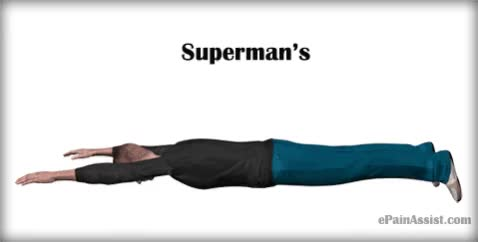 Watch and share Supermans Tabata Exercise  - EPainAssist.com GIFs by ePainAssist.com on Gfycat