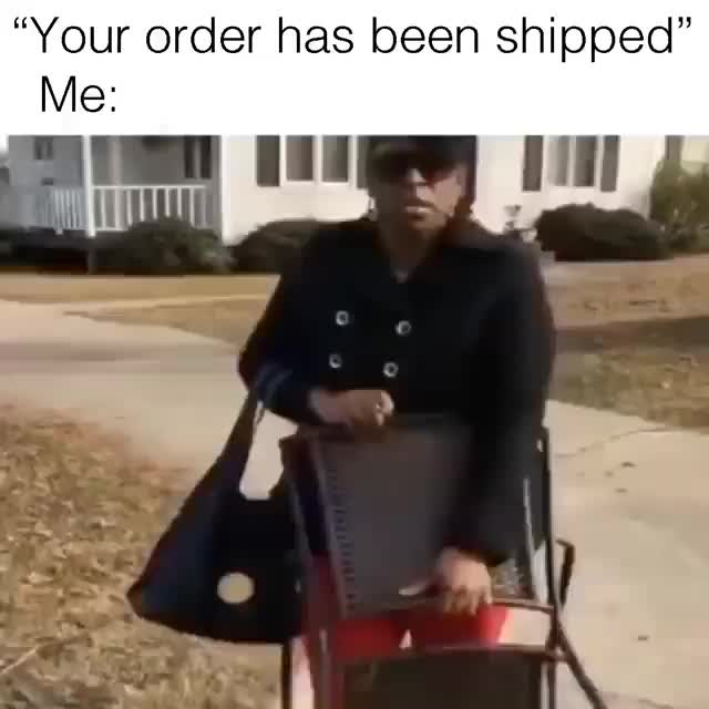 Me waiting for my item