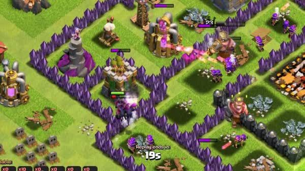 ClashOfClans, clashofclans, [Glitch] Air Bomb snipe across the village (reddit) GIFs