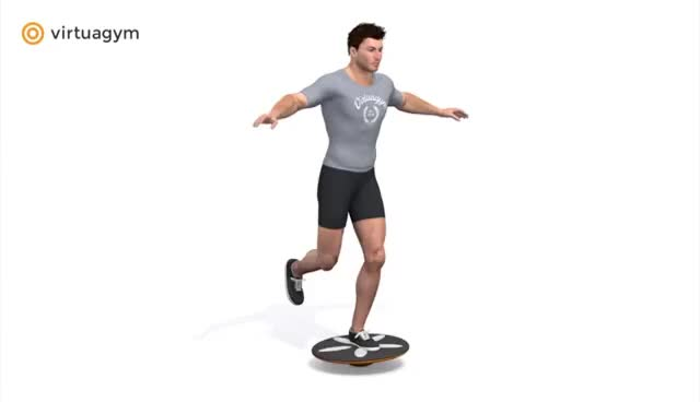 Watch and share Standing One Leg - Balance Board GIFs on Gfycat