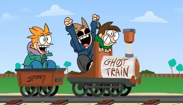 Eddsworld, eddsworld, train, trains, transportation, Ghost Train GIFs