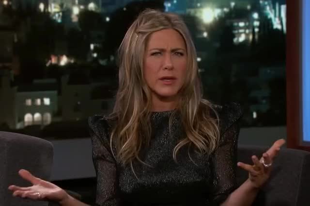 Watch this curated GIF by GIF Machine (@gifmachine) on Gfycat. Discover more aniston, annoyed, confused, confusion, dinner, disappointed, friendsgiving, interview, jennifer, jimmy, kimmel, mad, no, off, pissed, say, thanksgiving, way, what, wtf GIFs on Gfycat
