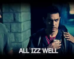 Watch and share Aamir Khan Gif GIFs and All Izz Well GIFs on Gfycat