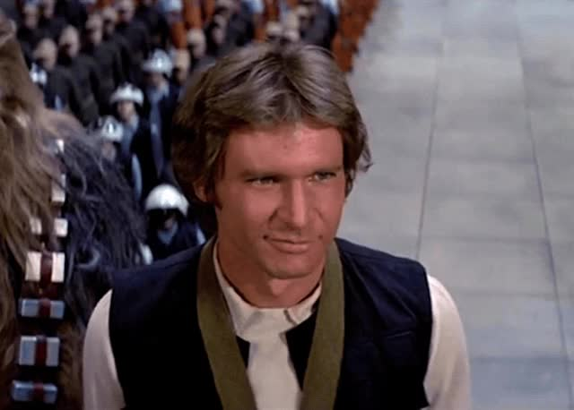 Watch this wink GIF by The GIF Smith (@sannahparker) on Gfycat. Discover more a new hope, flirt, han solo, harrison ford, star wars, wink GIFs on Gfycat