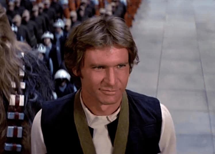 a new hope, flirt, han solo, harrison ford, star wars, wink, Han Solo Wink GIFs