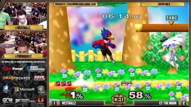 CEO 2015 - Westballz (Falco) Vs. CT | The Moon (Marth) SSBM Losers Top 8 - Smash Melee